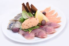Salted fish plate royalty free stock image