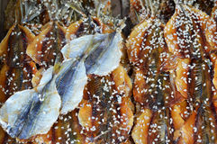 Salted fish with sesame Royalty Free Stock Photography