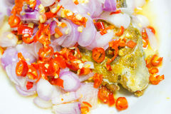 Salted fish spicy Stock Image