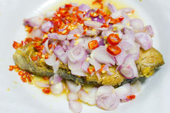 Salted fish spicy Stock Photography