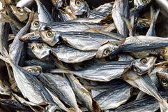 Salted Fishes Background Stock Photo