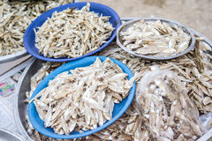 Salted fishes shop Royalty Free Stock Photos