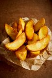 Salted fried potato royalty free stock photos