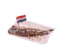 Salted herring stock photo