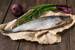 Salted herring with onions Royalty Free Stock Photo