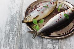 Salted herring Royalty Free Stock Image
