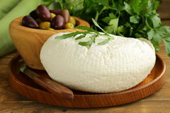 Salted milk cheese (feta cheese) Stock Images