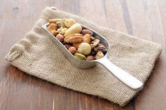 Salted mix nut Royalty Free Stock Image