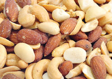 Salted Mixed nuts Stock Image