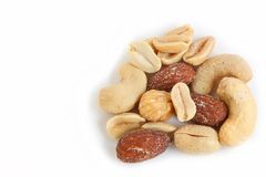Salted Mixed Nuts Stock Photography