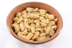 Salted nuts. Close up of salted nuts in a bowl Stock Photography