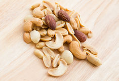 Salted nuts Stock Images