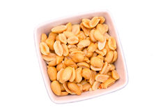 Salted nuts on top bowl Royalty Free Stock Photo