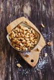Salted peanut nuts Royalty Free Stock Photo