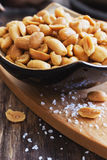 Salted peanut nuts Royalty Free Stock Photos