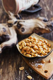Salted peanut nuts Royalty Free Stock Images