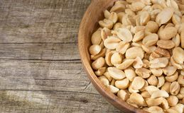 Salted peanut seeds - Arachis hypogaea. Peanuts are a food rich in antioxidants, fiber, vitamins and minerals Stock Image