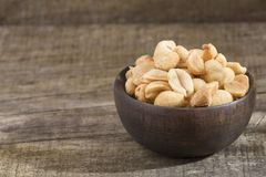 Salted peanut seeds - Arachis hypogaea. Peanuts are a food that you may know as peanuts Royalty Free Stock Image
