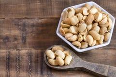 Salted peanut seeds - Arachis hypogaea royalty free stock image