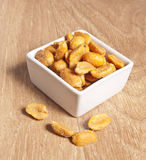 Salted peanuts Stock Photography