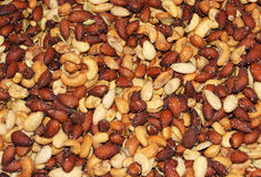 Salted peanuts background Royalty Free Stock Images