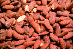 Salted peanuts close up background Royalty Free Stock Photography