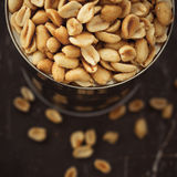 Salted peanuts in focus Royalty Free Stock Photos