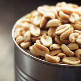 Salted peanuts in focus Royalty Free Stock Image