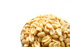 Salted peanuts in focus Royalty Free Stock Images