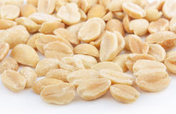 Salted peanuts on white Royalty Free Stock Photography
