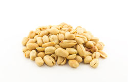 Salted peanuts on white background Royalty Free Stock Photos