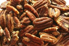Salted Pecans Royalty Free Stock Photography