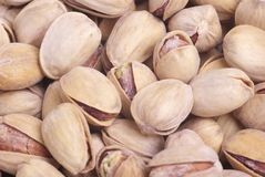 Salted pistachio. Iran salted pistachio closeup background Royalty Free Stock Photos
