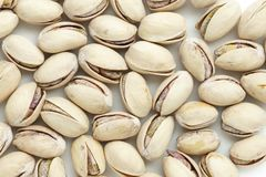 Salted pistachio nuts background close up Royalty Free Stock Photography