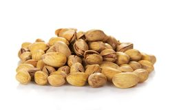 Salted pistachio nuts Stock Photos