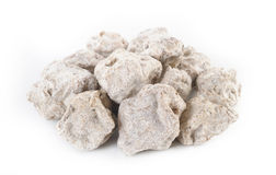 Salted plum on white Royalty Free Stock Photos