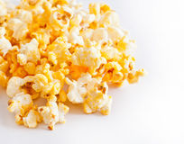 Salted popcorn grains Stock Photos