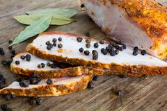 Salted pork fat Stock Photography