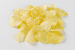 Salted potato chips Royalty Free Stock Photo
