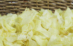 Salted Potato Chips Stock Photography