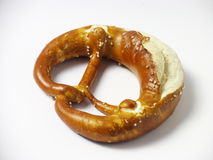 Salted pretzel Stock Photography