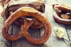 Salted pretzel Stock Photos