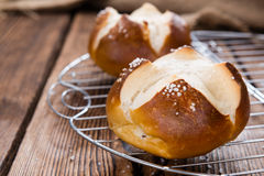 Salted Pretzel Roll Royalty Free Stock Photo