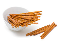 Salted pretzel stick Royalty Free Stock Images