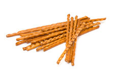 Salted pretzel stick Stock Images