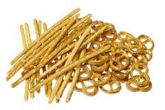 Salted pretzels Stock Image