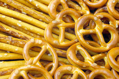 Salted pretzels. Royalty Free Stock Image