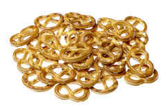 Salted pretzels. Royalty Free Stock Photo