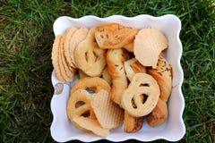 Salted pretzels Stock Images