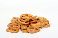 Salted Pretzels. Pic of Salted Pretzels on white Stock Photos